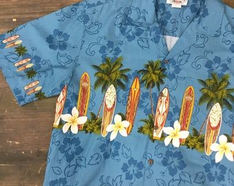 Surfboard Print Hawaiian Shirt