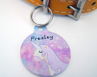 Unicorn Pet ID Tag Personalised