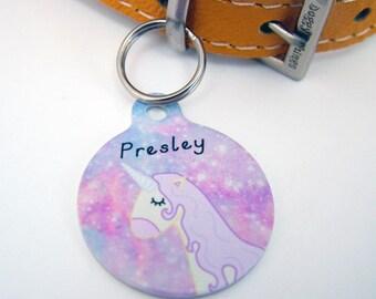 Unicorn Pet ID Tag Personalised