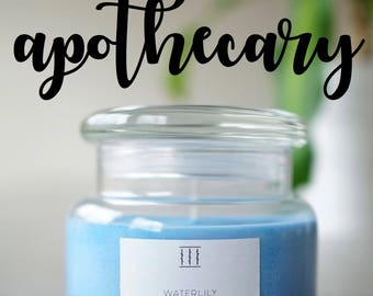 Three Silent Trees | Small apothecary jar
