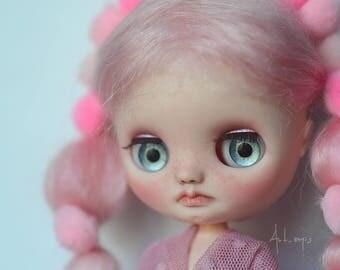 OOAK Custom Middie Blythe Doll – Pink – By Art_emis