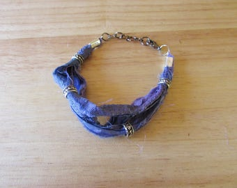 Purple Sari Silk Multistrand Bracelet