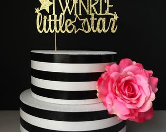 twinkle twinkle little star cake topper- baby shower cake toppers