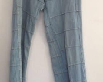 original 1970's patchwork bell bottom jeans