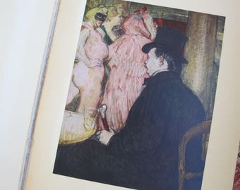 1952 Abrams Toulouse Lautrec 16 Full Color Prints, Intro Text by Douglas Cooper. PARIS Parisian Montmartre to La Moulin Rouge Scenes