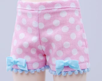 BJD Shorts - Slim MSD Minifee or Unoa - Pink with White Dots