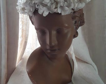 French Vintage , Brida l, Flower Crown, JAL, French Roses, Antique Silk Flowers , Wedding Crown, French, Shabby Bridal, Something Old, Crown