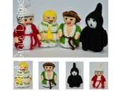Christmas Carol Toy Knitting Pattern, Doll Knitting Pattern, Scrooge, Charles Dickens, Ghost, Knit Doll, Victorian Costume, Rag Doll Pattern