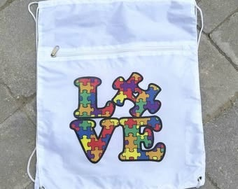 Custom Drawstring Backpack/Printed/Photo/Character/Image/Personalized