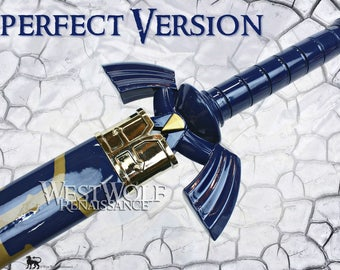 Imperfect Legend of Zelda - Link's Steel Hylian Knight Master Sword with Scabbard --- Twilight Princess/Breath of the Wild/Triforce