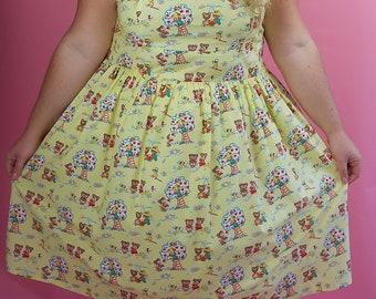 Plus Size Dress, Plus Size Bears Dress, Plus Size Vintage Dress, Plus Size 1950s Dress, Plus Size Rockabilly Clothing, Plus Size Vintage