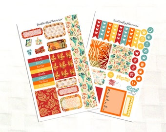 Fall in Love Sticker Kit for Personal Size Planners, Mini Kit for Erin Condren and Happy Planner