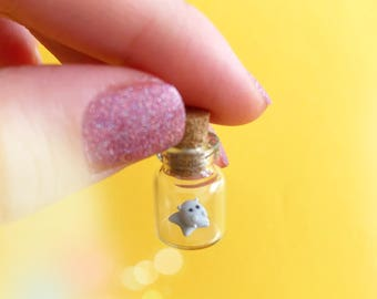 Micro hippo in a tiny bottle