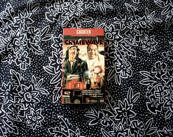 Crimewave VHS Tape. 80s Comedy Cult Classic Directed By Sam Raimi And Written By The Coen Brothers. Rare 80s Comedy VHS