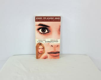 Girl Interrupted VHS Tape. Vintage 90s VHS Movie Girl Interrupted. Wynona Ryder, Angelina Jolie Iconic Vhs Movie.