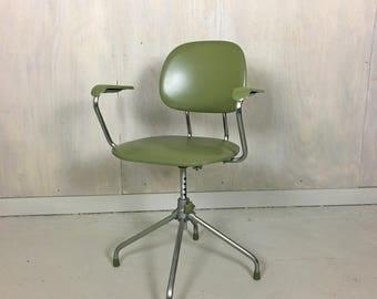 Chrome and Vinyl Office Chair