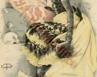 French Actor Sarah Bernhardt vintage image digital download for art print, scrapbooking, mixed media, altered art,