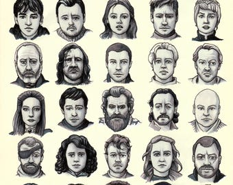 """Game of Thrones characters 8x10"""" print"""
