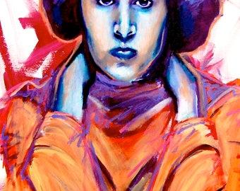 "Princess Leia  12""x18"" Poster Print Star Wars Print Wall Art Colorful Abstract Pop Art"