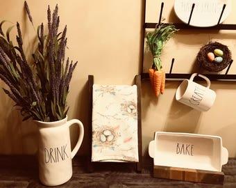 Tea Towel Ladder - Mini Display Ladder - Rae Dunn Decor -Hand Towel Rack -Kitchen Decor - Bathroom Decor - Farmhouse Decor - Rustic Decor -