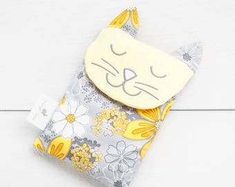 Boo boo bag, baby care, hot bottle, flowers cat, unisexe nursery, baby gift, baby shower, rice bag, hot cold therapy, christening, shower,