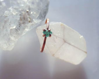 Alternative Engagement Ring Raw Emerald Ring Minimalist Ring Raw Crystal Ring Gemstone Ring Natural Emerald Ring Raw Emerald Engagement Ring