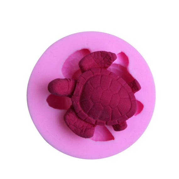 Sea turtle mold 3D food safe silicon push mold for fondant, cake decorating, and polymer clay
