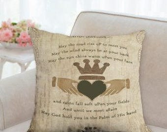 St. Patrick's Day Irish Designer Pillow (two styles to choose from)