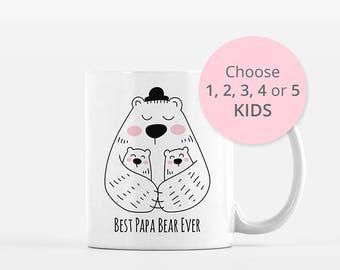 Dad Mug, Papa Bear Mug, Gift for Dad, New Dad Gift, Dad Birthday Gift, Dad Coffee Mug Cup, Fathers Day Gift from Kids, Fathers Day Mug