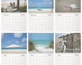 2018 Calendar PURE BEACH Calendar Seashore Seaside Island Ocean Home Office Planner Beach Cottage Life Photography Wall Calendar