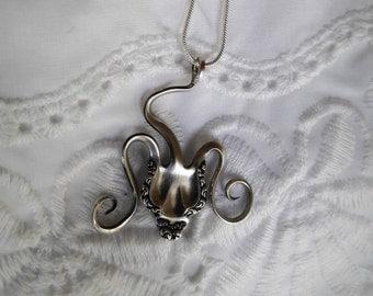 Antique Sterling Fork Necklace