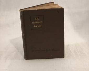 Mrs. Brownings Poems 1913