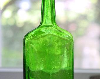 Emerald Green Glass Bottle