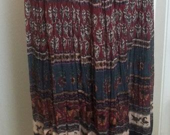 MLK Trading, Inc. 1980s vintage broomstick skirt
