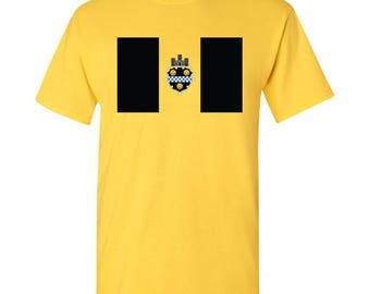 Pittsburgh City Flag T Shirt - Daisy Yellow