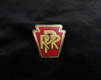 Pennsylvania Railroad pin. 1960s Train Memorabilia , Train Pin, PRR, RPR,