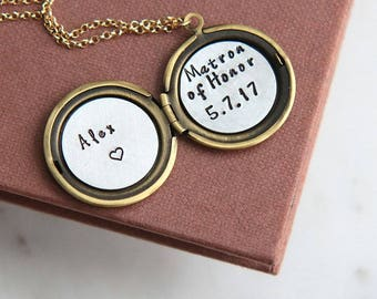 Matron of Honor Gift, Matron of Honor Proposal gift, Bridesmaid Gift, Maid of Honor Necklace, Will You Be My Matron of Honor, Maid of Honor
