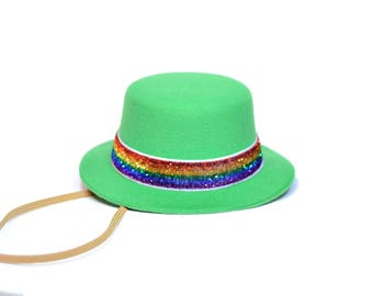 Saint Patty's Day Top Hat || March Birthday Party Hat || Shamrock