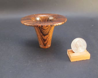 Bowl Bocote wood, small decorative hand turned