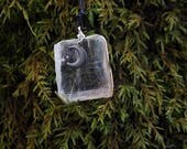 selenite moon necklace