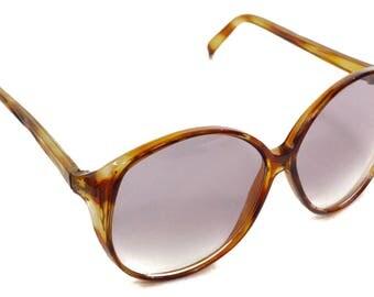 Vintage 70s Foster Grant Deadstock Oversized Tortoise Shell Sunglasses Shades