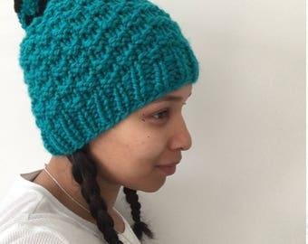 Checkerboard Seafoam Green Hat