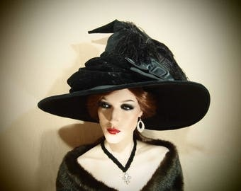 """Witch Hat """"Bethany"""" One of a Kind"""