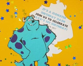 Monsters Inc Invitation, Sulley Invitation, Monsters Inc Sulley, Monsters Inc Party, Monsters Inc Birthday, Monsters Inc Invite, SET OF 10
