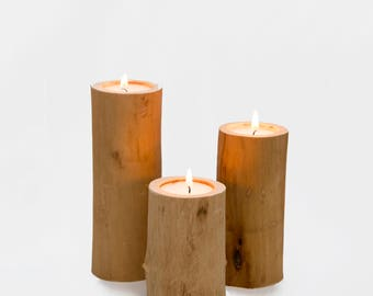 Tree branch candleholders
