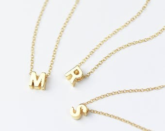 SALE Gold Initial Necklace • Letter Necklace • Initial Pendant • Initial Jewelry • Letter Charm • Personalised Necklace • Silver Initial