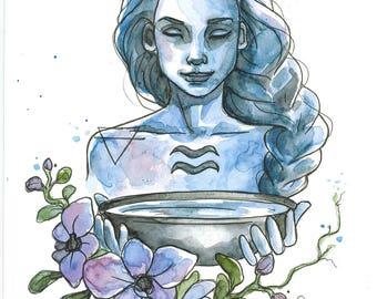 Aquarius (original watercolor)
