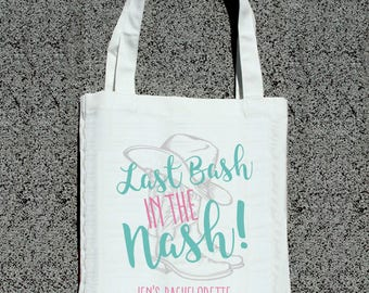 Nashville Last Bash in the Nash Cowboy Boots Inspired Bachelorette Party Favor Bags - Wedding Welcome Tote Bag