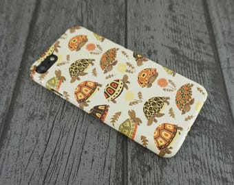 Tubby Tortoises Cute Grumpy Tortoise Animal Patterned iPhone 7 Case