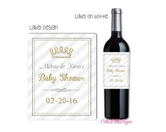 Crown Royal Baby Shower Wine Bottle Labels Digital Download